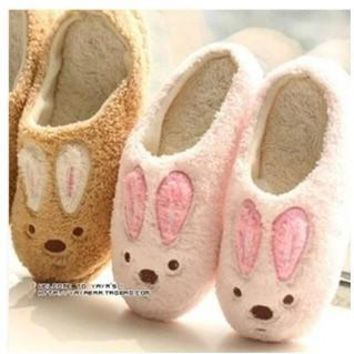 New Winter Cotton Plush Slippers For Men And Women Home Slippers Cute Soft-Sole Shoes,