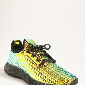 Iridescent Low-Top Tennis Shoe