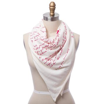 I Carry Your Heart Lightweight Literary Scarf