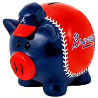 Forever Collectibles Small Thematic Piggy Bank - Atlanta Braves