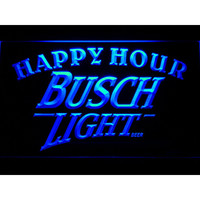 620 Busch Light Beer Happy Hour Bar LED Neon Sign with On/Off Switch 7 Colors to choose