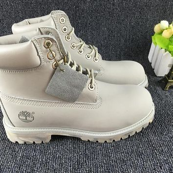 Timberland Icon 6-inch Premium With Camo Outsole Light Gray Waterproof Boots