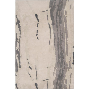 Modern Classics Wool Area Rug in Greys and Winter White design by Candice Olson