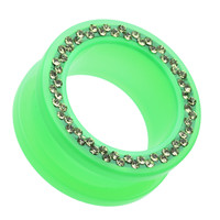 Sparkling Neon Acrylic Flesh Tunnel Ear Gauge Plug