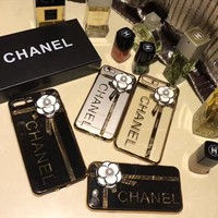 CHANEL camellia iphone 6 6s 7 7plus iPhone Phone Cover soft Case