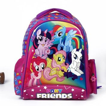 2017 new children cartoon my little pony schoolbag girl lovely backpack schoolbag For children children Christmas gift bags1515