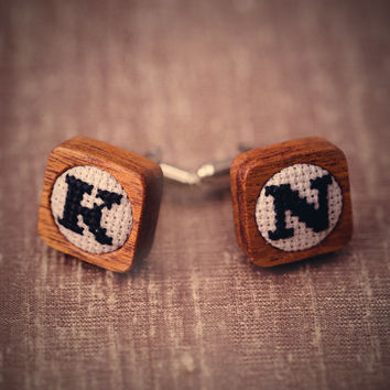 Personalised Embroidered Initial Cufflinks