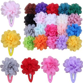 Sale 2 Pcs Kids Fashion Flower Pumpkin Hairpins Girls Hair Clip Hair Accessories Gift