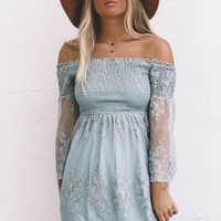 Let Me Be Yours Sage Lace Dress