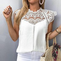 Jade Lace Detail Blouse