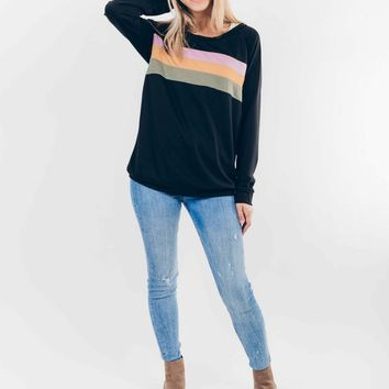 Boardwalk Dreams Sweatshirt in Black