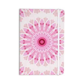 "Iris Lehnhardt ""Flower Power"" Pink Abstract Everything Notebook"