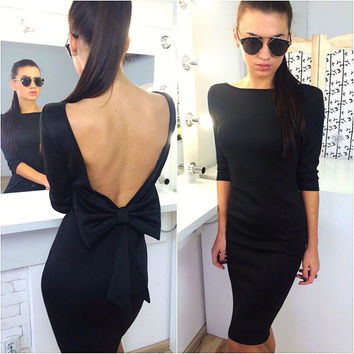 Backless Sexy Slim Dress