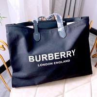 Free Shipping-Burberry New Large Capacity Tote Bag Shoulder Bag