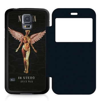 Nirvana In Utero Leather Wallet Flip Case Samsung Galaxy S5