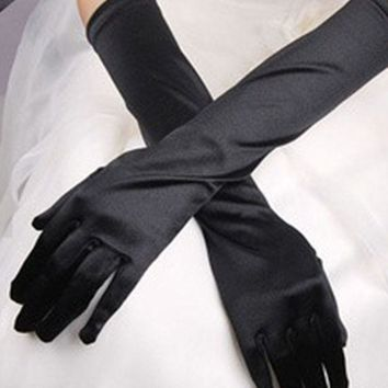 Stretchable Halloween Satin Gloves
