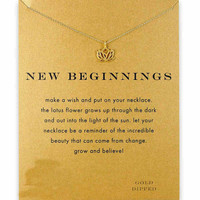 14K Gold Dipped New Beginnings Lotus Necklace