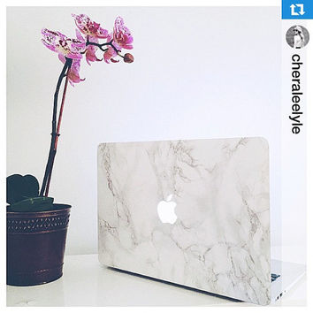 BESTSELLING Marble MacBook Sticker Cover - The Original Marble MacBook Laptop Decal.  Free U.S. Shipping.