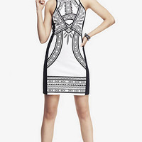 PLACED TRIBAL PRINT MINI SHEATH DRESS from EXPRESS