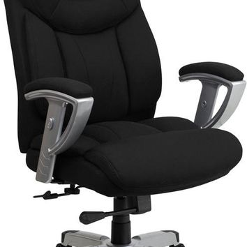 Series 400 lb. Capacity Big & Tall Black Fabric Executive Swivel Office Chair with Height & Width Adjustable Arms