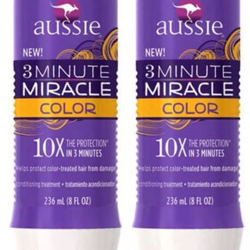 Set Of 2 New Aussie 3 Minute Miracle 'Color' Treatment - Ships International!