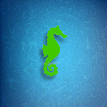 SEAHORSE /1/ vinyl decals * tumbler decals * car decals * tropical decals * under the sea decals * seahorse decals * sea life