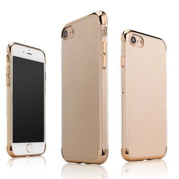 For iPhone 5S Case Glitter Bling Shiny Soft TPU Clear Gold Plating Case For iPhone 5S 5 SE Cover Coque Transparent Phone Case