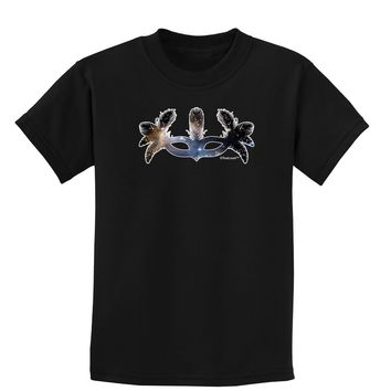 Galaxy Masquerade Mask Childrens Dark T-Shirt by TooLoud