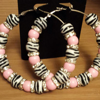 Love and Hip Hop and Basketball wives inspired pink zebra print hoop