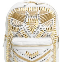 Women's Ash 'Zuma' Studded & Beaded Leather Backpack
