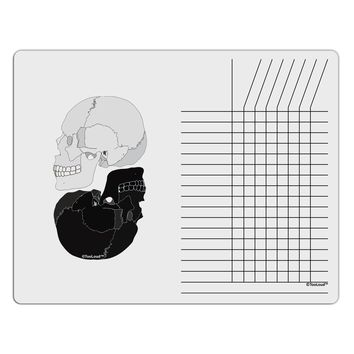 White And Black Inverted Skulls Chore List Grid Dry Erase Board by TooLoud