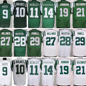 9 Bryce Petty 10 Santonio Holmes 19 Keyshawn Johnson 21 Marcus Gilchrist 27 Dee Milliner 28 Curtis Martin 29 Bilal Powell Jersey