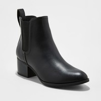 Women's Lara Chelsea Booties - A New Day™ Black