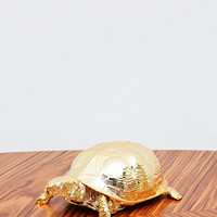 Areaware Metallic Turtle Jewellery Box in Gold - Urban Outfitters