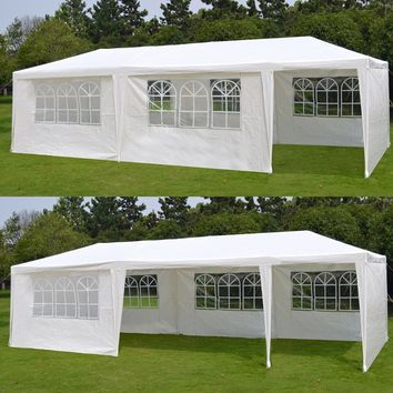 10' x 30' White Gazebo Wedding Party Tent Canopy With 6 Windows & 2 Sidewalls-8