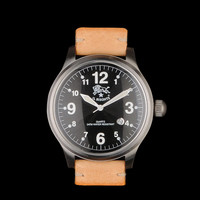 UNIONMADE - il bisonte - Galileo Black Face with Natural Wristwatch