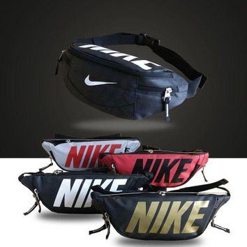 ICIK6HW Nike' Unisex Sport Casual Logo Letter Couple Chest Bag Waist Bag Single Shoulder Messenger Bag Small Backpack