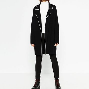 Sweater Knit Jacket [266883629085]