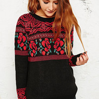 Staring at Stars Rosa Sweater in Black - Urban Outfitters