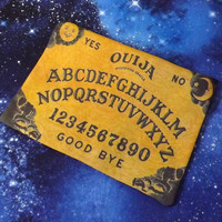 Ouija Spirit Board Poly Mesh Zipper Pouch Makeup Bag Goth