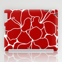 Hibiscus Animal RED IVORY iPad Case by Eileen Paulino