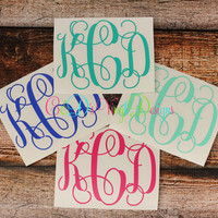 Monogram Decal - Monogram Sticker - Monogram Car Decal - Monogram Decal - Car Decal - Custom Car Decal - Monogram Car Decal - Monogram