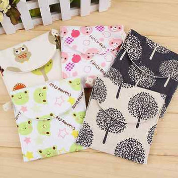 Women Girl Sanitary Napkin Towel Pads Small Bag Purse Holder Organizer HU