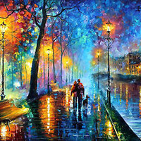 "Melody Of The Night  —  Oil Painting On Canvas By Leonid Afremov - Size: 40""x30"""