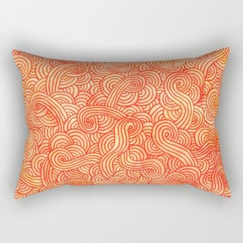 Red and orange doodles Rectangular Pillow by Savousepate