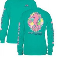 *Closeout* Simply Southern Long Sleeve Tees -SEAUNI