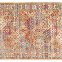 "2'7""x5' Sahana Outdoor Rug, Natural/Mult, Area Rugs"