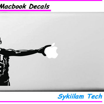 Sticker for Michael Jordan for Macbook Skin Air 11 13 Pro 13 15 17 Retina for Apple Logo Laptop Computer Decal Creative Vinyl