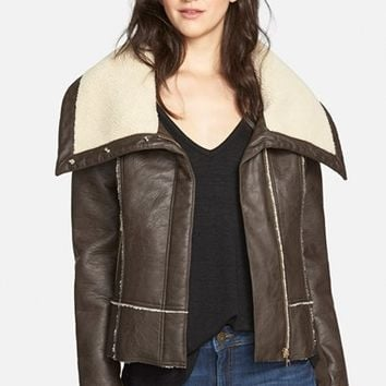 Women's Sam Edelman Faux Shearling Moto Jacket,