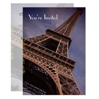 Eiffel Tower A taste Of France Dinner Party Invite